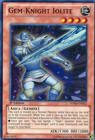 Gem-Knight Iolite - HA06-EN032 - Super Rare - 1st Edition