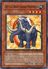 Crystal Beast Amber Mammoth - FOTB-EN005 - Common - 1st Edition on Channel Fireball
