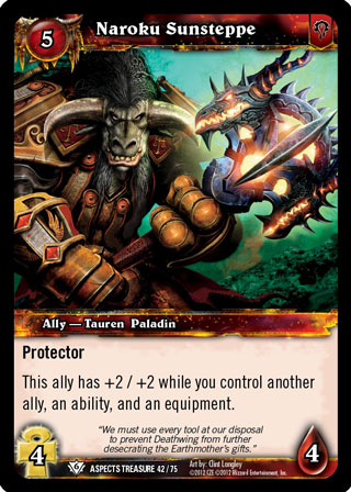 NO/'KALED THE ELEMENTS OF DEATH X 4 WOW WARCRAFT TCG BATTLE OF ASPECTS