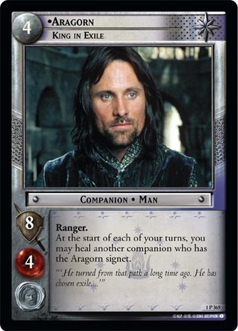 Aragorn, King in Exile - Foil