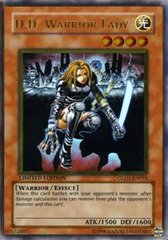 D.D. Warrior Lady - GLD1-EN015 - Gold Rare - Limited Edition on Channel Fireball
