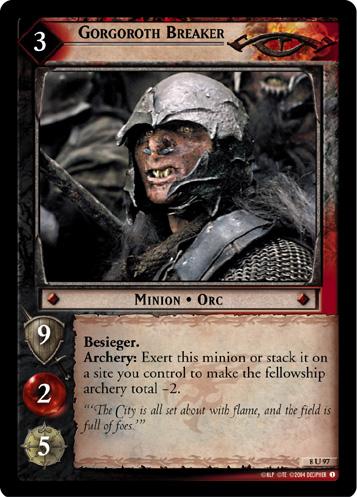 8R38 LOTR CCG 1x  King of the Dead Foil Light Play Siege of Gon Oathbreaker