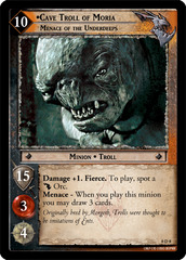 Cave Troll of Moria, Menace of the Underdeeps - 0D8 (D)