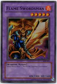 Flame Swordsman - LOB-003 - Super Rare - 1st Edition