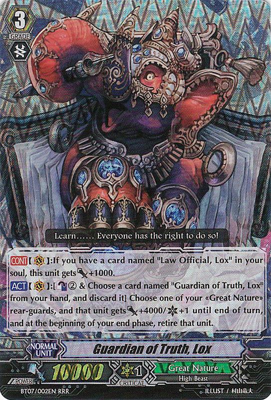 Guardian of Truth, Lox - BT07/002EN - RRR