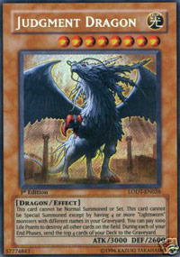 Judgment Dragon - LODT-EN026 - Secret Rare - 1st Edition