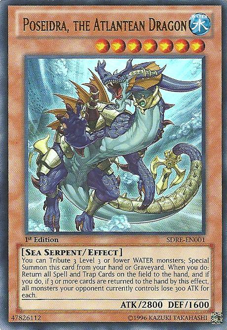Poseidra, the Atlantean Dragon - SDRE-EN001 - Ultra Rare - 1st Edition
