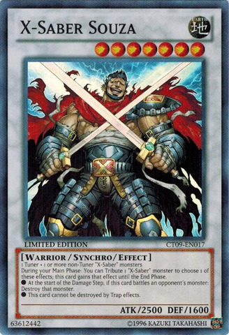 X-Saber Souza - CT09-EN017 - Super Rare - Limited Edition