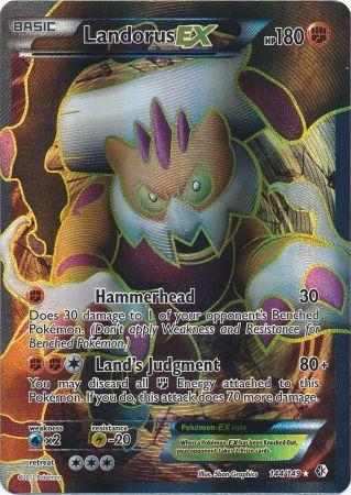 Landorus-EX Full Art - 144/149 - Super Holo Rare