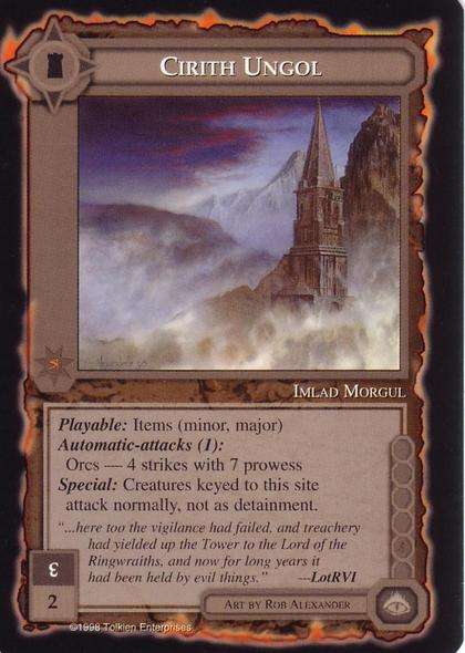 MECCG CCG Middle-earth Cirith Ungol Balrog MEBA MINT
