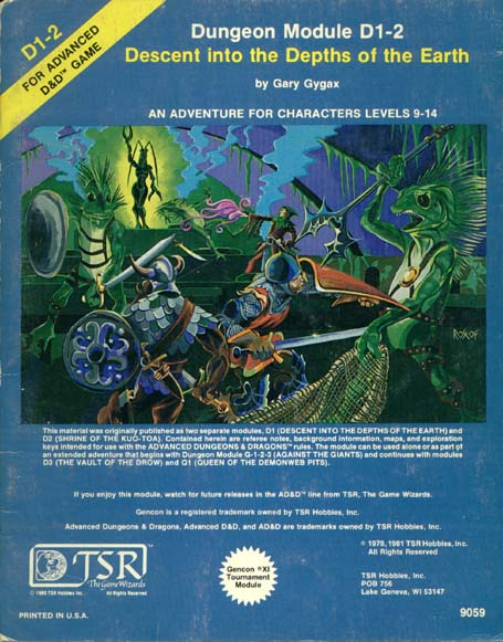 AD&D D1-2 - Descent into the Depths of the Earth 9059