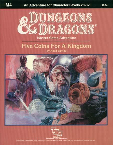 D&D M4 - Five Coins for a Kingdom 9204