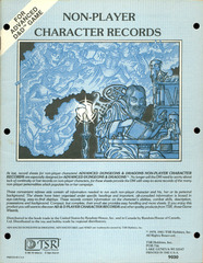 AD&D - Non-Player Character Records 9030