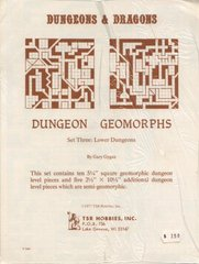 Dungeon Geomorphs Set Three: Lower Dungeons
