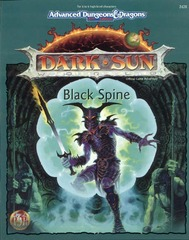 AD&D 2E Dark Sun Black Spine Box 2428