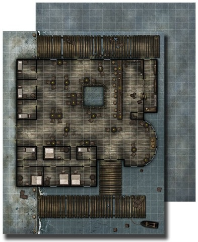 GameMastery Flip-Mat: Waterfront Tavern