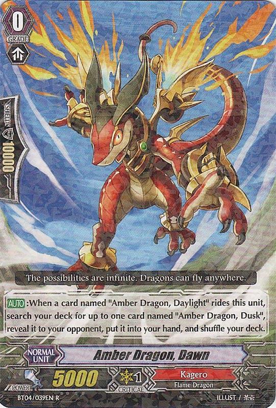 Amber Dragon, Dawn - BT04/039EN - R