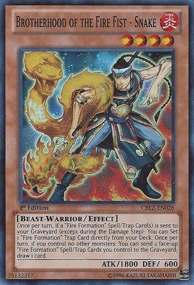Brotherhood of the Fire Fist - Snake - CBLZ-EN026 - Super Rare - 1st Edition