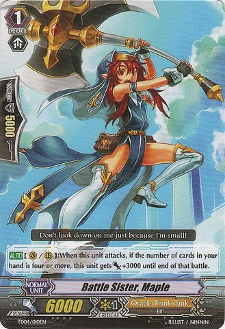 Battle Sister, Maple - TD04/010EN
