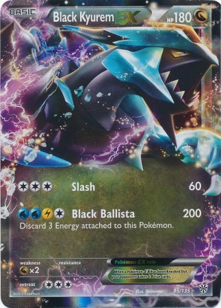 Black Kyurem-EX - 95/135 - Holo Rare ex