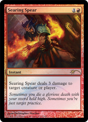 Searing Spear - Foil FNM 2013