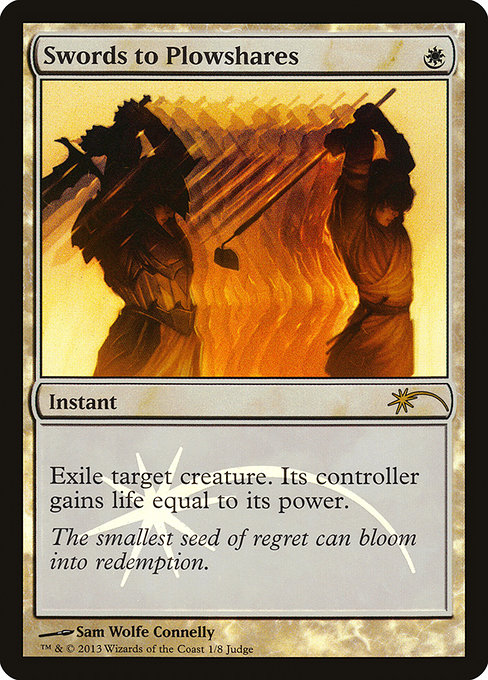 Swords to Plowshares - Foil DCI Judge Promo