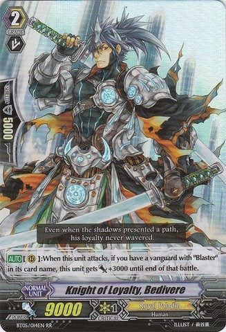 Knight of Loyalty, Bedivere - BT05/014EN - RR