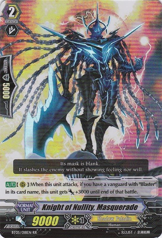 Knight of Nullity, Masquerade - BT05/018EN - RR