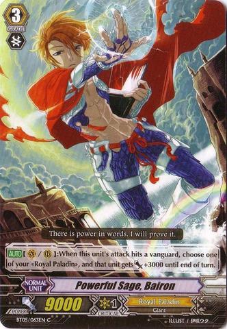 Powerful Sage, Bairon - BT05/063EN - C