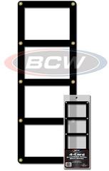 4 Card Screwdown Holder - Black Border