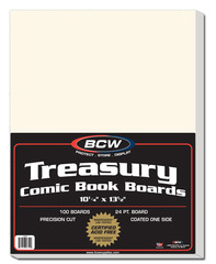 Treasury Comic Book Backing Boards - 10 1/4 x 13 1/2 - Pack of 100