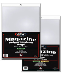 Resealable Magazine Bags - 8 3/4 x 11 - Pack of 100