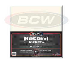 BCW Paper Record Jackets: 33-RPM - Square Corners - No Hole - Pack of 10