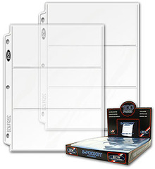 Pro 3-Pocket Currency Pages - Box of 100