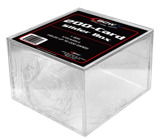 BCW 2 Piece Slider Box - 200 Count