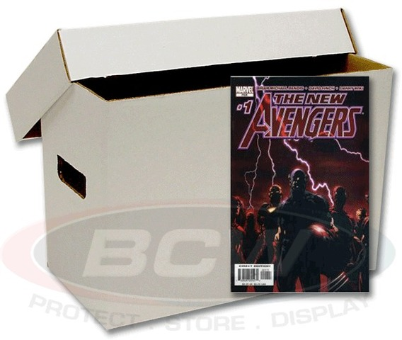 Short Comic Book Cardboard Storage Box