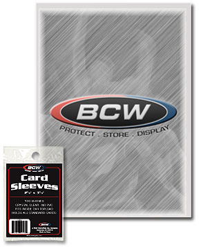BCW Standard Card Soft Penny Sleeves - 2 5/8 X 3 5/8 - Pack of 100