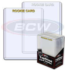 BCW 3 X 4 Topload Card Holder - Rookie Imprinted White - Pack of 25