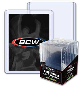 BCW 3 x 4 x 7 mm - Thick Card Topload Holder 240 pt - Pack of 10