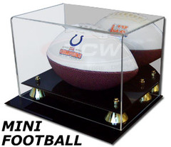 BCW Deluxe Acrylic Mini Football Display - With Mirror Back - 1-AD28