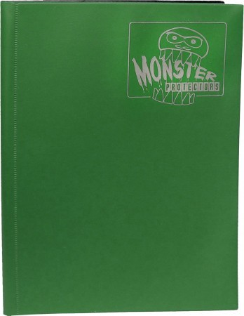 Monster Protectors 9 Pocket Matte Forest Green Binder