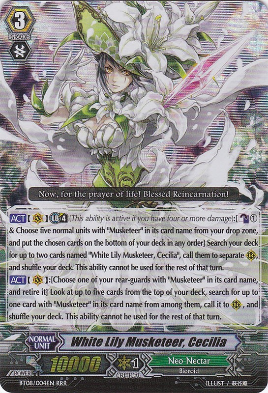 White Lily Musketeer, Cecilia - BT08/004EN - RRR