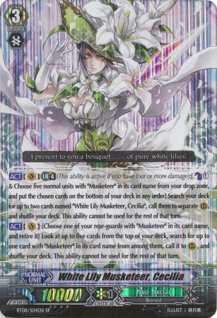 White Lily Musketeer, Cecilia - BT08/S04EN - SP