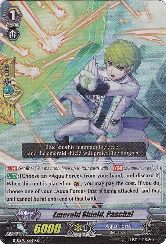 Emerald Shield, Paschal - BT08/019EN - RR