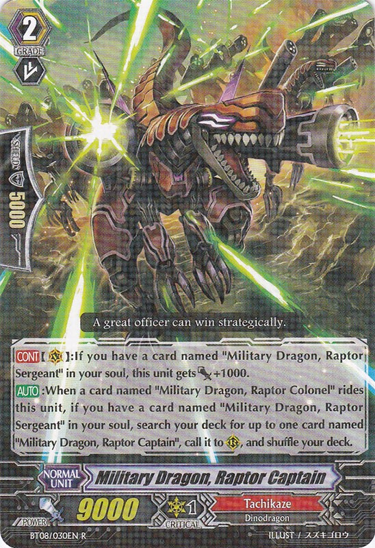 Military Dragon, Raptor Captain - BT08/030EN - R