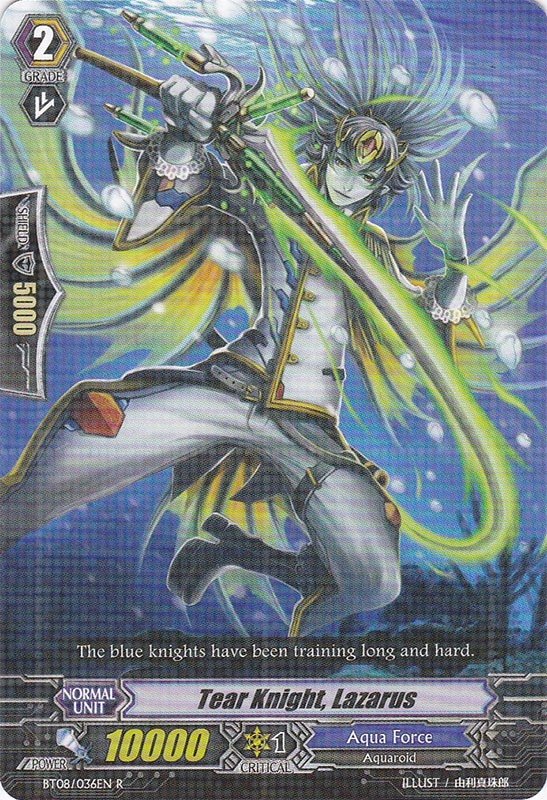 Tear Knight, Lazarus - BT08/036EN - R