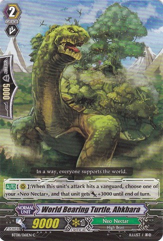 World Bearing Turtle, Ahkbara - BT08/061EN - C