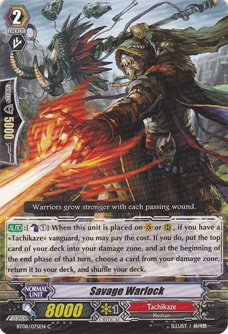 Savage Warlock - BT08/075EN - C