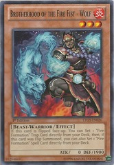 Brotherhood of the Fire Fist - Wolf - LTGY-EN026 - Common - 1st Edition
