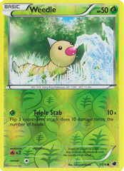 Weedle - 1/116 - Common - Reverse Holo